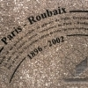 Engraved stones of the Paris Roubaix race