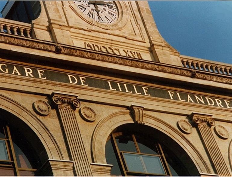Pediment of the Lille Flandres train station